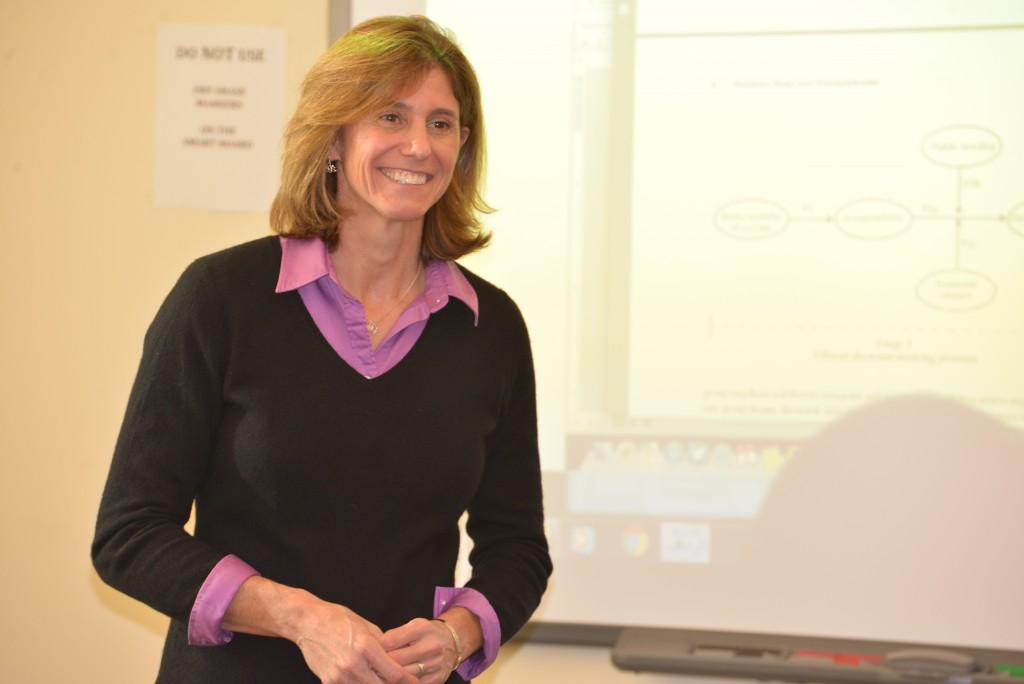 Laura Burton teaching