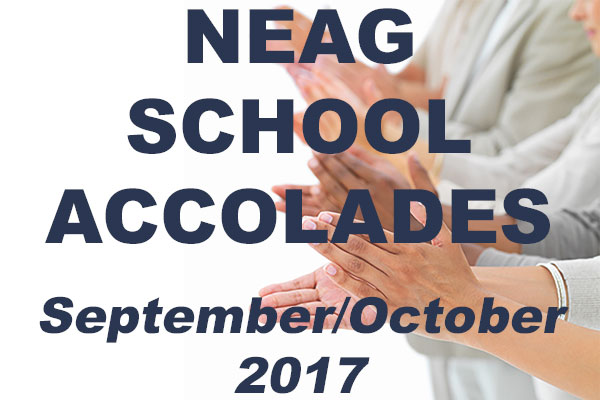 Neag Accolades, hands clapping for Sept/Oct 2017