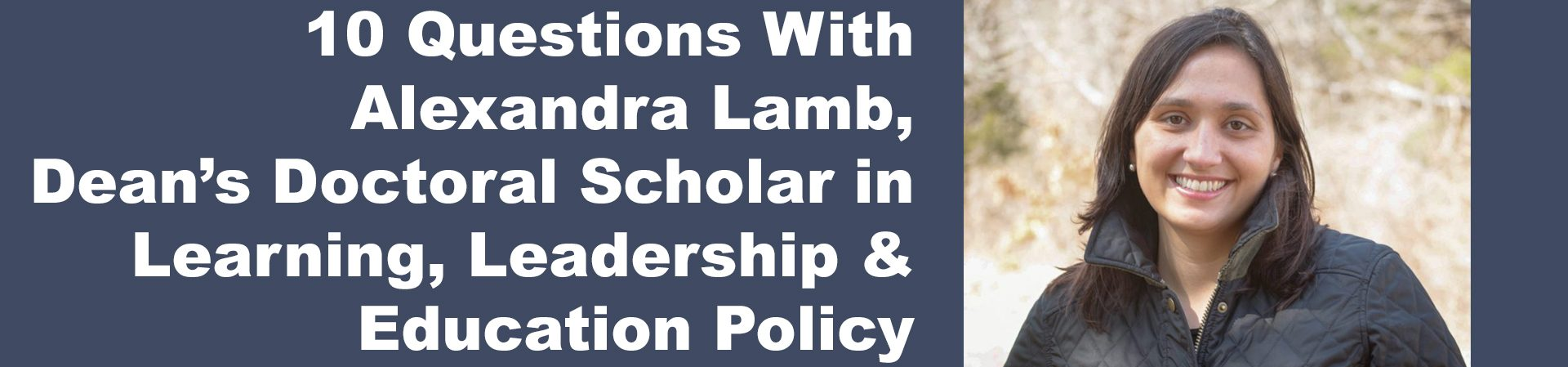 phd student alexandra lamb