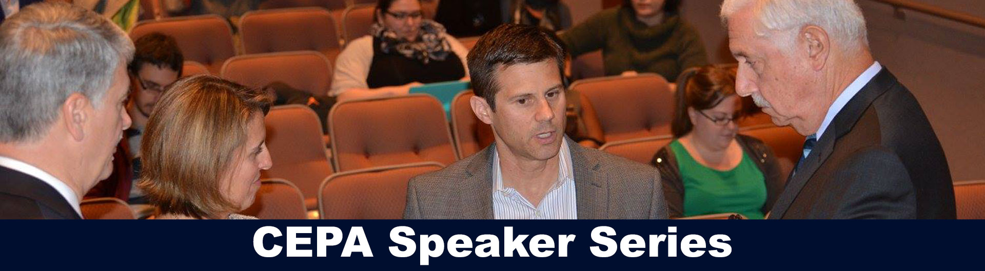 Casey Cobb at CEPA speaker series event