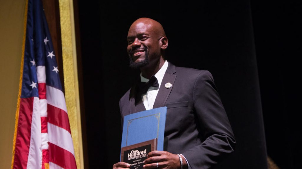 Preston Green being honored as Hartford Courant's 100 Men of Color, October 2017
