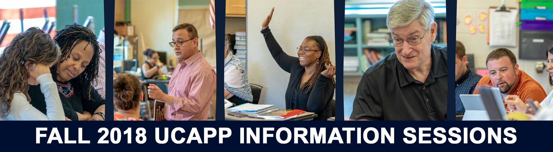 UCAPP Information Sessions, Fall 2018