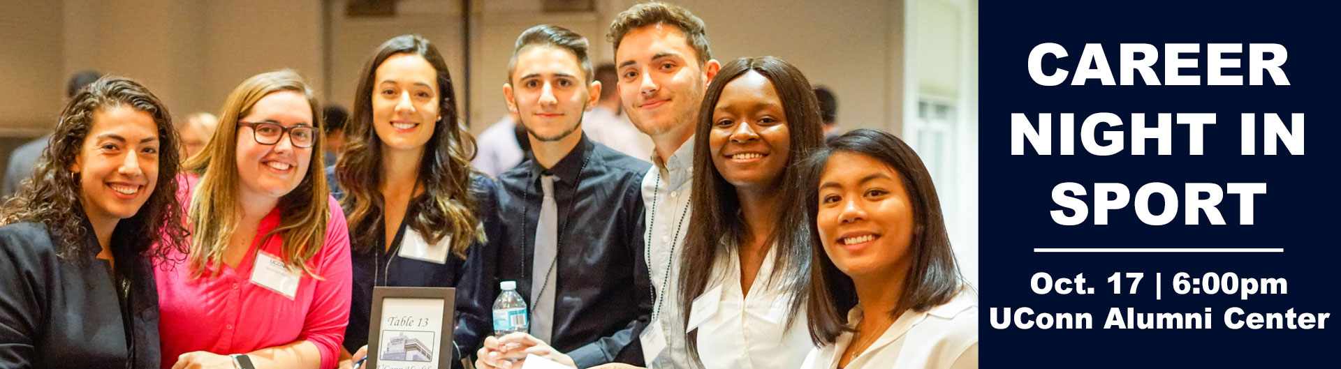 Group of students who attended the Career Night in Sport event, October 17, 2017.