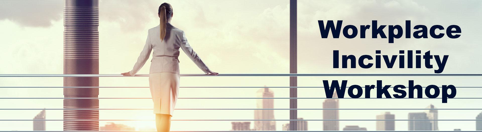 Woman overlook city skyline
