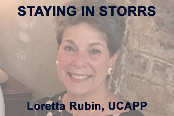 Staying in Storrs with Loretta Rubin, UCAPP