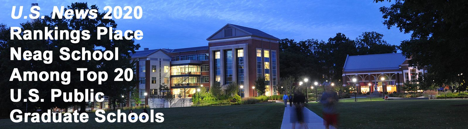 Neag building at night