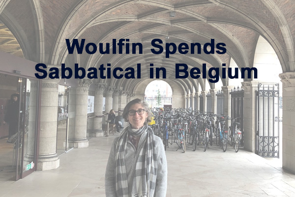 Sarah Woulfin Spends Sabbatical in Belgium