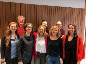 Sarah Woulfin with the research group at KU Leuven