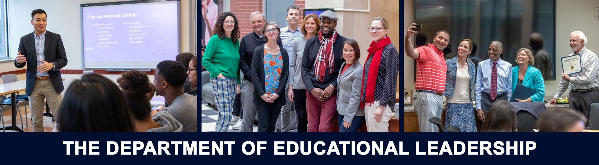 The Department of Educational Leadership (collage of photos)